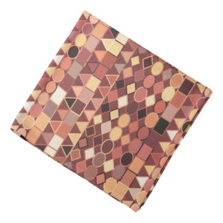 Bandana Géométrique tribal, brun chocolat moderne et