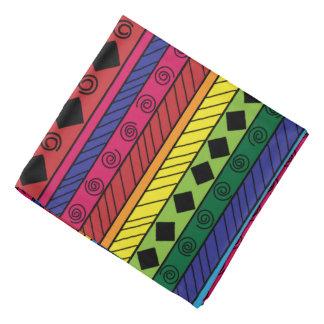 Bandana géométrique tribal coloré de griffonnage
