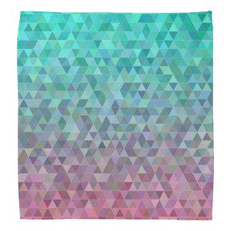 Bandana géométrique turquoise élégant de la