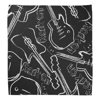 Bandana Guitare de roche