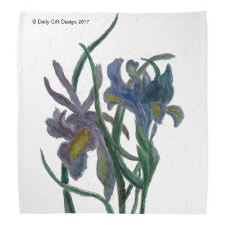 Bandana Iris imprimé sur le tissu