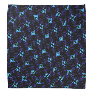 Bandana Jimette Design bleu et mauve sur noir