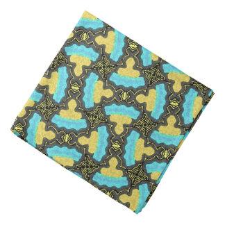 Bandana Jimette Design bleu jaune noir