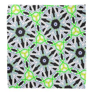 Bandana Jimette Design fait de vert noir sur blanc