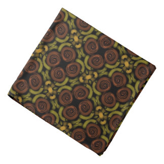 Bandana Jimette Design jaune brun et noir.