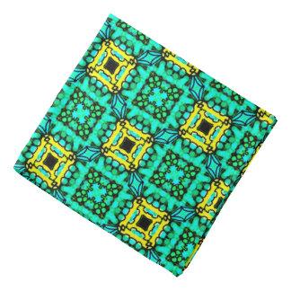 Bandana Jimette Design jaune et vert