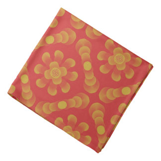 Bandana Jimette Design jaune sur orange.