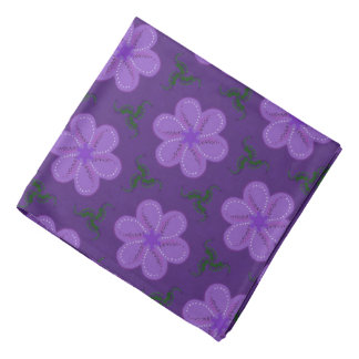 Bandana Jimette Design lilas sur mauve.