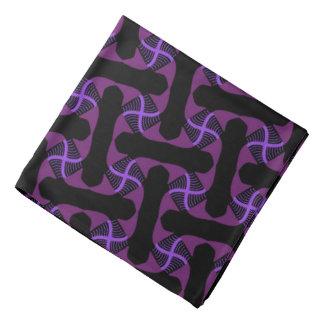 Bandana Jimette Design mauve sur noir.