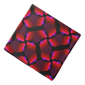 Bandana Jimette Design tons de rouge et noir.