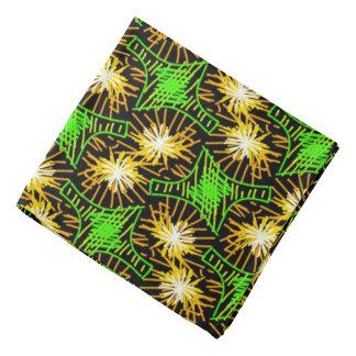 Bandana Jimette Design vert et jaune sur noir
