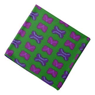 Bandana Jimette Design vert et mauve.