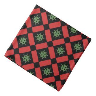 Bandana Jimette Design vert rouge sur noir