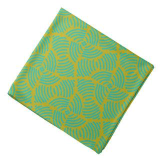 Bandana Jimette Design vert sur jaune.