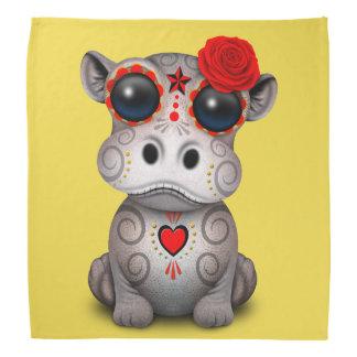Bandana Jour rouge de l'hippopotame mort de bébé
