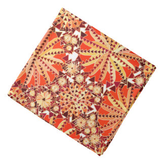 Bandana La copie tribale de mandala, se rouillent orange