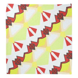 Bandana La géométrie diagonale abstraite de rouge et de