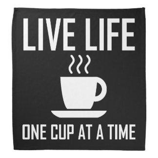 Bandana La vie vivante un buveur de thé de café de tasse à