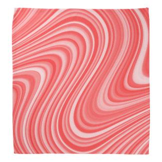 Bandana Ligne sinueuse grise blanche rouge/bleue fraîche