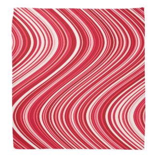 Bandana Lignes onduleuses en rouge et blanc