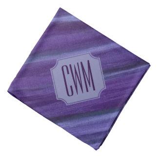 Bandana Lilas violet pourpre de monogramme indifférent du