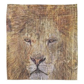Bandana Lion majestueux de faune animale de safari de
