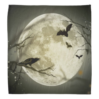 Bandana Lune de Halloween - illustration de pleine lune