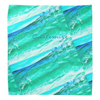 Bandana Maui bleu/vert ondule Thunder_Cove