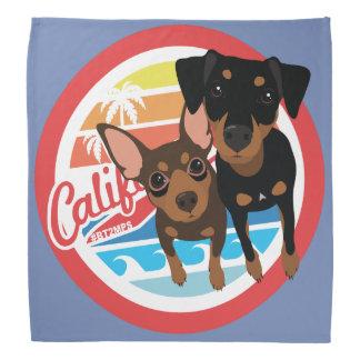 Bandana minimum de Pin de chien de Cali