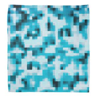 Bandana Motif abstrait moderne blanc de noir bleu