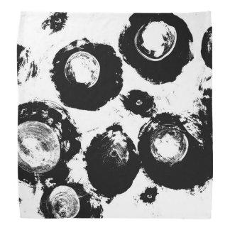 Bandana Motif abstrait noir et blanc de yeux en cristal