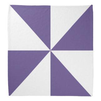 Bandana Motif blanc et ultra-violet de soleil de triangle