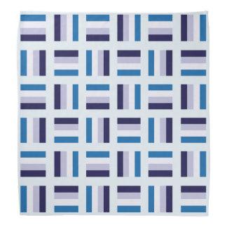 Bandana Motif carré très unique - blanc bleu de bleu