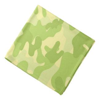 Bandana Motif de camouflage de couleur verte de chaux