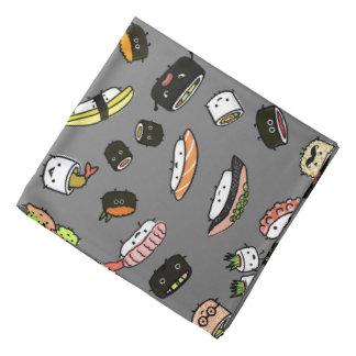 Bandana Motif de caractères de sushi