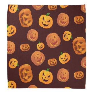 Bandana Motif de citrouille de Halloween Jack-o'-lantern