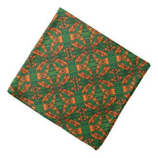 Bandana Motif de lézard orange et vert