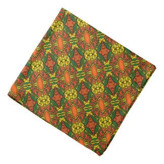 Bandana Motif de papillons orange de vert jaune