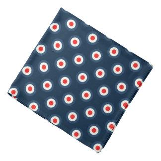 Bandana Motif de point de polka - blanc bleu rouge