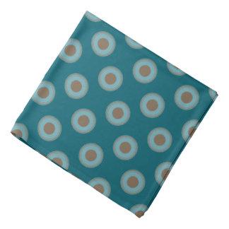 Bandana Motif de point de polka - Brown bleu turquoise