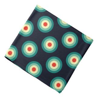 Bandana Motif de point de polka - rouge bleu de jaune de