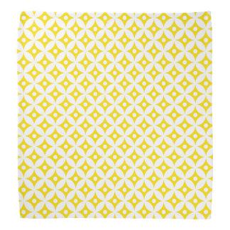 Bandana Motif de pois jaune et blanc moderne de cercle