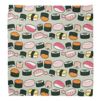 Bandana Motif d'illustrations d'amusement de sushi