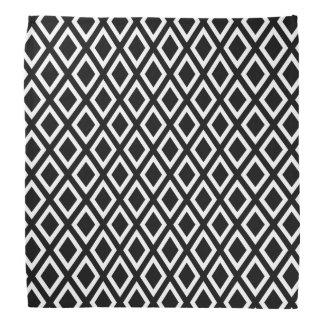 Bandana Motif géométrique noir et blanc élégant