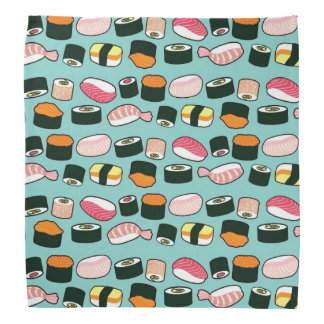 Bandana Motif illustré par amusement délicieux de sushi
