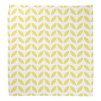 Bandana Motif jaune à la mode moderne de feuille