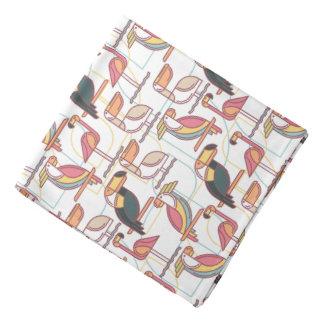 Bandana Motif moderne avec les oiseaux tropicaux