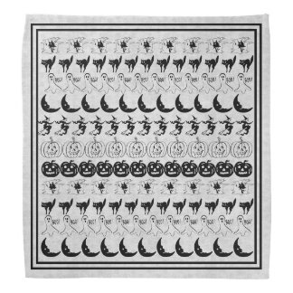 Bandana Motif noir/blanc d'art de police d'amusement de