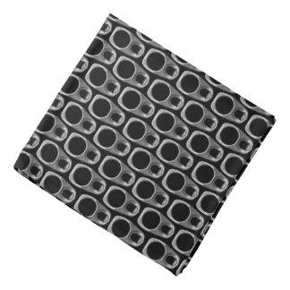 Bandana Motif noir et gris d'étiquettes de traction