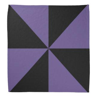 Bandana Motif noir et ultra-violet de soleil de triangle